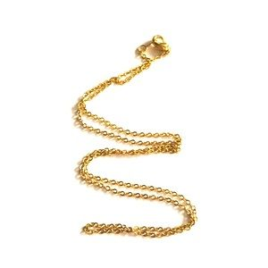 """17"""" gold plated dainty chain."""